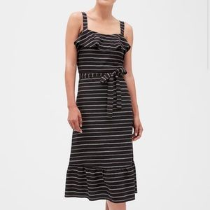 Banana Republic Stripe Strappy Flounce Sundress